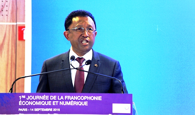 Le Président malagasy à Paris (photo Présidence)
